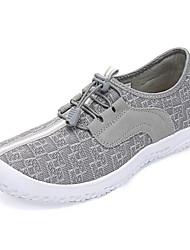abordables -Femme Chaussures Grille respirante Polyuréthane Automne Confort Chaussures d'Athlétisme Course à Pied Marche Talon Plat Bout rond pour
