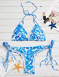 baratos -Mulheres Nadador Biquíni - Estampado