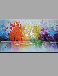 economico -Hang-Dipinto ad olio Dipinta a mano - Astratto / Paesaggi Modern Tela / Tela allungata