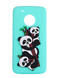 cheap -Case For Motorola MOTO G5 Plus C plus Pattern Back Cover Panda Soft TPU for Moto G5 Plus Moto G5 Moto E4 Plus Moto C plus