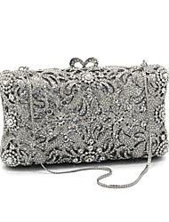 cheap -Women's Bags Glasses / Metal Evening Bag Crystals for Wedding / Event / Party Silver