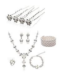 abordables -Femme Strass Imitation de perle / Imitation Diamant Papillon Ensemble de bijoux Bijoux de Corps / 1 Collier / 1 Bracelet - Mode / Européen
