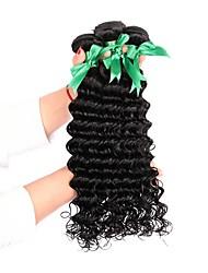 Недорогие -3 Связки Бразильские волосы Крупные кудри 8A Натуральные волосы Человека ткет Волосы Ткет человеческих волос Расширения человеческих волос Жен.