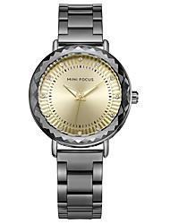 Недорогие -Жен. Модные часы Японский Кварцевый Повседневные часы Нержавеющая сталь Группа На каждый день Черный Серебристый металл Серый Розовое