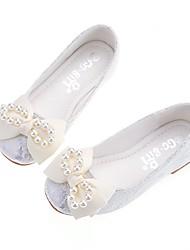 Недорогие -Девочки обувь Кружева Ткань Лакированная кожа Весна Лето Светодиодные подошвы Детская праздничная обувь На плокой подошве Для прогулок