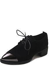 preiswerte -Damen Schuhe Kaschmir Frühling Komfort Outdoor Niedriger Heel Runde Zehe für Schwarz Khaki