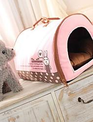 abordables -Perros / Gatos Camas Mascotas Colchonetas y Cojines A Lunares / Palabra / Personajes Templado Rojo / Azul / Rosa Para mascotas