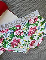 abordables -Homme Micro-élastique Fleur Autre Slips Opaque - Polyester 1 Vert Marine