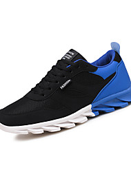 cheap -Men's PU(Polyurethane) Spring / Fall Comfort Athletic Shoes Slip Resistant Black And White / Black and Blue / Black and Red