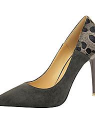 baratos -Mulheres Sapatos Courino Primavera Verão Botas da Moda Inovador Conforto Saltos Salto Agulha para Festas & Noite Preto Cinzento Vermelho