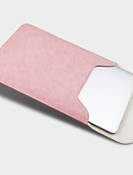 """preiswerte -Ärmel für Einfarbig Volltonfarbe Kunst-Leder Stoff Das neue MacBook Pro 15"""" Das neue MacBook Pro 13"""" MacBook Pro 15 Zoll MacBook Air 13"""