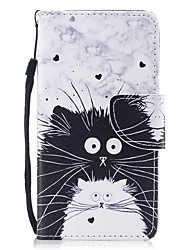 cheap -Case For Samsung Galaxy S8 Plus S8 Card Holder Wallet with Stand Flip Magnetic Pattern Full Body Cases Cat Hard PU Leather for S8 Plus S8