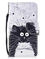 preiswerte -Hülle Für Samsung Galaxy S8 Plus S8 Kreditkartenfächer Geldbeutel mit Halterung Flipbare Hülle Magnetisch Muster Ganzkörper-Gehäuse Katze
