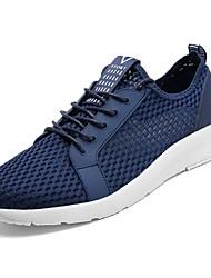 preiswerte -Schuhe PU Frühling Herbst Komfort Sneakers für Draussen Schwarz Grau Blau