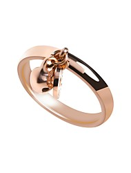 cheap -Women's Stainless Steel / Zircon Band Ring / With Gift Box - Bell Metallic / Casual / Fashion Rose Gold Ring For Daily