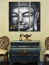 abordables -Toile Classique Moderne, Trois Panneaux Toile Format Vertical Imprimé Décoration murale Décoration d'intérieur