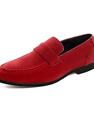 cheap -Shoes Suede Spring Fall Moccasin Novelty Loafers & Slip-Ons Booties/Ankle Boots for Office & Career Party & Evening Black Gray Red Khaki
