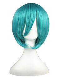 Недорогие -Парики из искусственных волос Естественные прямые Стрижка боб плотность Без шапочки-основы Жен. Зеленый Парики для косплей Короткие