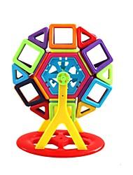 preiswerte -Magnetische Bauklötze Bausteine 130pcs Kreisförmig Quadratisch Auto Eltern-Kind-Interaktion Spielzeug Lastwagen Baustellenfahrzeuge