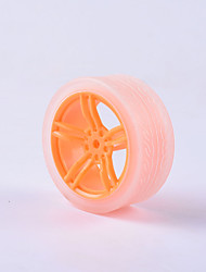 baratos -Caranguejo do reino do caranguejo diy peças do carro educativo carro roda tt pneu do motor 1pcs laranja e transparente # 4