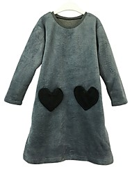 cheap -Girl's Daily Solid Colored Block Stripes/Ripples Dress