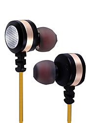 cheap -PHB EM014 In Ear Wired Headphones Dynamic Plastic Pro Audio Earphone with Volume Control / with Microphone Headset
