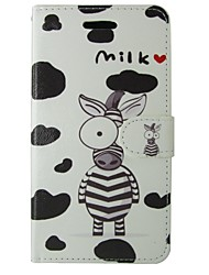abordables -Coque Pour Huawei P8 Lite Porte Carte Portefeuille Avec Support Clapet Coque Intégrale Bande dessinée Animal Dur faux cuir pour Huawei
