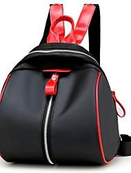 Недорогие -Жен. Мешки Полиэстер Нейлон рюкзак Молнии для Повседневные Все сезоны Черный Красный