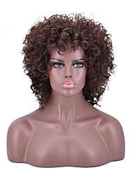 Недорогие -Парики из искусственных волос Кудрявый плотность Без шапочки-основы Жен. Коричневый Парики для вечеринки Парик из натуральных волос