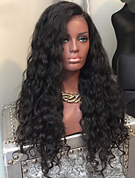 cheap -New Water Wave Glueless 13x6 Lace Front Human Hair Lace Wigs with Baby Hair 100% Brazilian Human Hair Pre Plucked Natural Hairline Lace Front Wigs