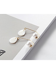 cheap -Women's Pearl Stud Earrings / Front Back Earrings / Ear Jacket - Imitation Pearl Drop Fashion White For Party / Daily