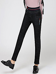 cheap -Women's High Rise Stretchy Skinny Pants, Casual Solid Cotton Winter