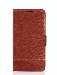 Недорогие -Кейс для Назначение SSamsung Galaxy J5 (2017) J3 (2017) Бумажник для карт Кошелек со стендом Флип Чехол Сплошной цвет Твердый Кожа PU для