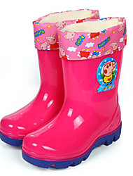cheap -Girls' Shoes PVC Leather Spring / Fall Comfort / Rain Boots Boots for Blue / Pink / Mid-Calf Boots
