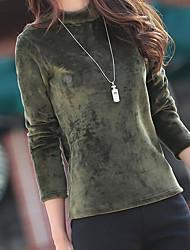 preiswerte -Damen Langarm Rollkragen Pullover Solide Baumwolle