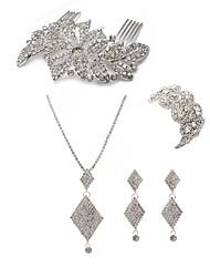 Недорогие -Жен. Комплект ювелирных изделий - Искусственный бриллиант европейский, Мода Включают Гребни / Свадебные комплекты ювелирных изделий Белый Назначение Свадьба / Для вечеринок