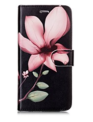 cheap -Case For Apple iPhone X iPhone 8 Card Holder Wallet Flip Magnetic Pattern Full Body Cases Flower Hard PU Leather for iPhone X iPhone 8