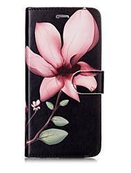 preiswerte -Hülle Für Apple iPhone X iPhone 8 Kreditkartenfächer Geldbeutel Flipbare Hülle Magnetisch Muster Ganzkörper-Gehäuse Blume Hart PU-Leder