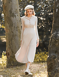 levne -Dámské Pouzdro Šaty - Jednobarevné Do V Vysoký pas