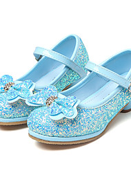 cheap -Girls' Shoes Paillette Spring / Fall Flower Girl Shoes / Tiny Heels for Teens Heels Rhinestone / Bowknot / Sequin for Silver / Pink /