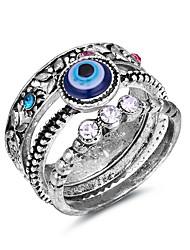 preiswerte -Damen Knöchel-Ring Strass 3 Stück Silber Aleación Böser Blick Retro Modisch Europäisch Normal Alltag Modeschmuck