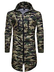 cheap -Men's Daily Print Hooded Hoodie Regular, Long Sleeves Winter Autumn/Fall Cotton