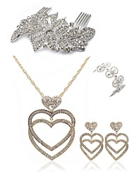 cheap -Women's Jewelry Set - Imitation Diamond Heart European, Fashion Include Hair Combs / Bridal Jewelry Sets White For Wedding / Party