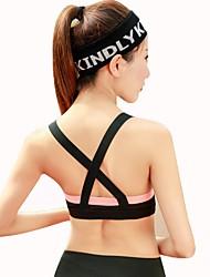 cheap -Women's Sports Bra Sports Underwear - Yoga, Running Breathability, Sweat-Wicking Black, Grey, Black / Orange Solid Colored