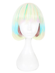 cheap -Synthetic Wig Straight Capless Women's Green Cosplay Wig
