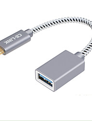 preiswerte -CE-Link USB 2.0 Adapter, USB 2.0 to USB 3.0 Typ C Adapter Male - Female 0,15m (0.5Ft)