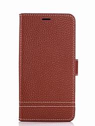 abordables -Coque Pour Xiaomi Porte Carte Portefeuille Avec Support Clapet Coque Intégrale Couleur unie Dur faux cuir pour Redmi Note 5A Xiaomi Redmi