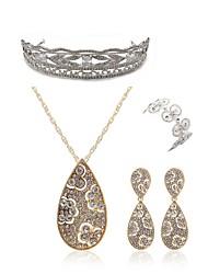 cheap -Women's Tiaras Bridal Jewelry Sets Rhinestone Fashion European Wedding Party Imitation Diamond Alloy Geometric Drop Butterfly Body