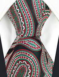 abordables -Homme Rayonne Soirée Travail Cravate Couleur Pleine Cachemire Jacquard