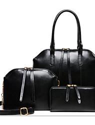 economico -Per donna Sacchetti PU (Poliuretano) sacchetto regola Set di borsa da 4 pezzi Cerniera per Casual All'aperto Inverno Autunno Blu Nero